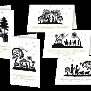 Scherenschnitt Weihnachtskarten
